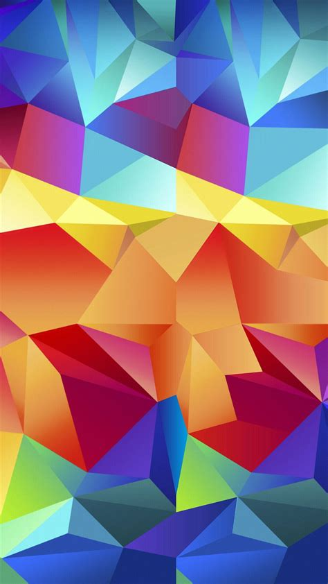 colorful wallpaper for android mobile colorful random triangles android wallpaper free download