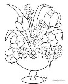 Galerry free flower coloring pictures to print