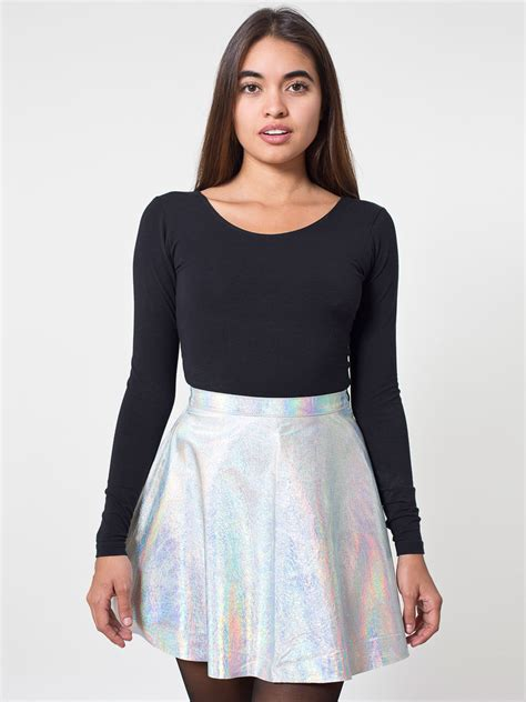 hologram leather circle skirt american apparel