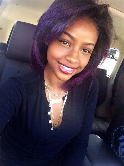 short hairstyles on ordinary women top 13 cute purple hairstyles for black girls this season