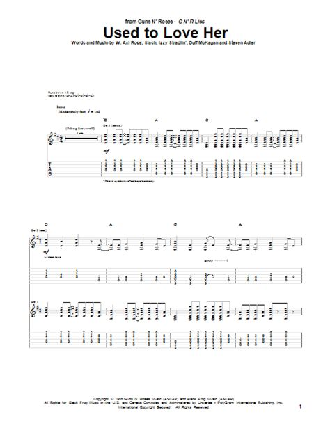 download mp3 guns n roses used to love her used to love her guitar tab by guns n roses guitar tab