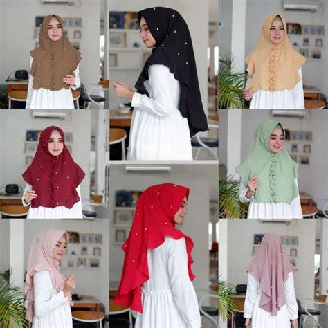 Jilbab Jersey Antem Mutiara jilbab khimar mini terbaru 2018 modis murah