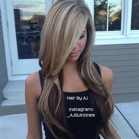 balayage and bangs 20 fabulous long layered haircuts with bangs highlighted