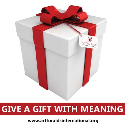 gift meaning give a gift with meaning for aids international