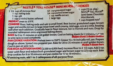nestle toll house cookie recipe nestle toll house cookie recipe house plan 2017