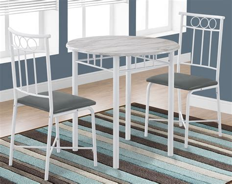 marble top dining room sets white marble top 3 dining room set 3085 monarch