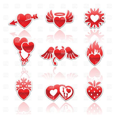free valentines vectors s day icons with royalty free vector