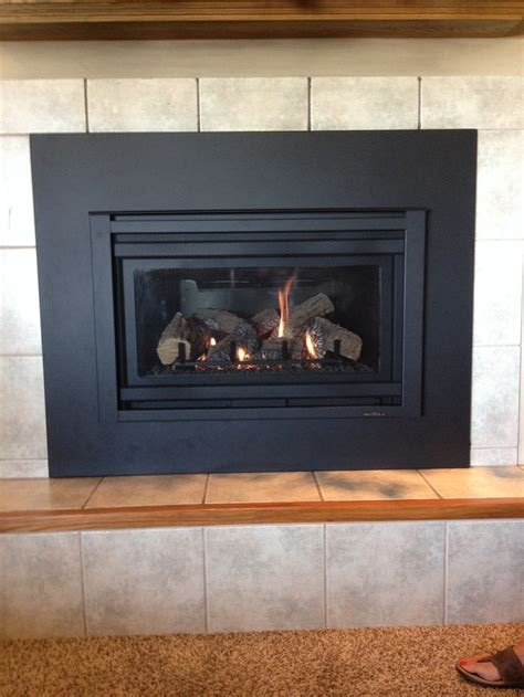 heat glo fireplace inserts heat n glo supreme i 30 gas insert with custom surround