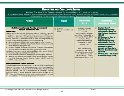 irc section 6056 health care reform matrix a tool for understanding the impact