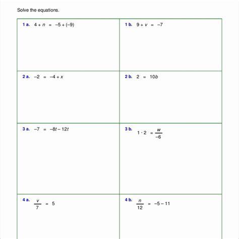 free printable math worksheets two step equations algebra two step equations worksheet tessshebaylo