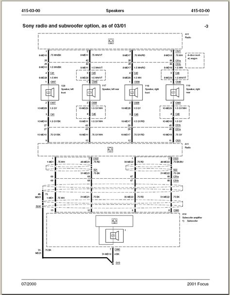 2001 ford focus alternator wiring diagram wiring diagram