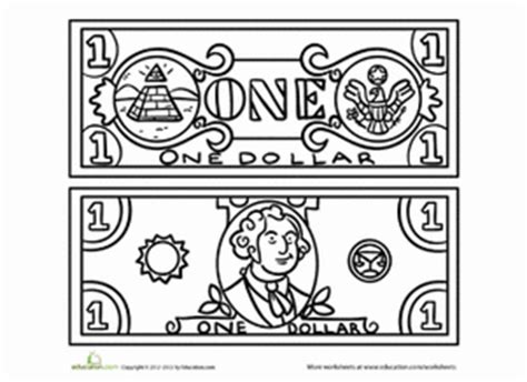 coloring page dollar bill dollar sign coloring sheet alltoys for