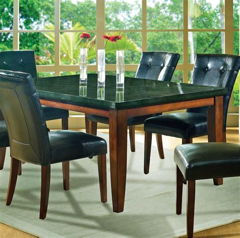 granite dining room sets steve silver granite bello 7 dining room set beyond stores