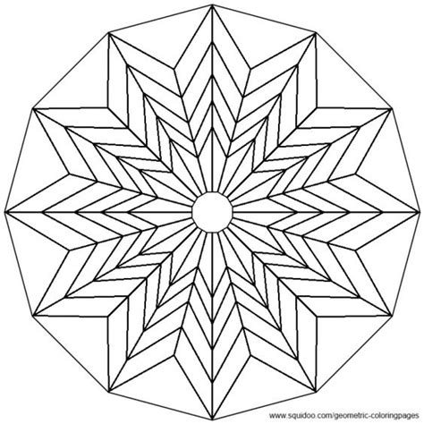 Coloring Mandalas And Flower On Pinterest Geometric Flower Coloring Pages