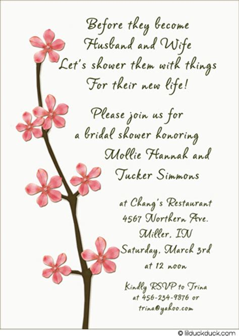 poems for bridal shower invitations bridal shower invitation poems template best template collection