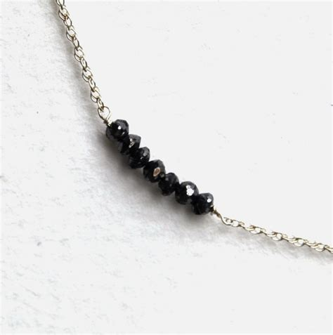 Handcrafted Silver Necklaces - handcrafted black stacked necklace sterling silver
