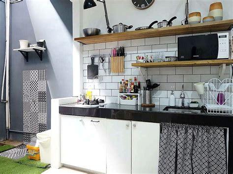 layout dapur pastry model motif keramik dapur sederhana sempit kecil dapur