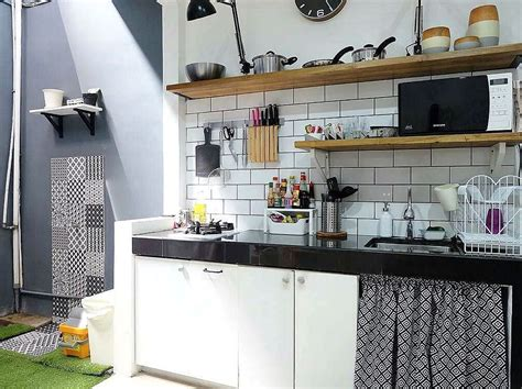 Gantungan Peralatan Dapur Ala Ikea model motif keramik dapur sederhana sempit kecil dapur