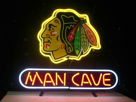 led lights for man cave 2017 blackhawk hockey man cave neon sign store display