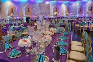 and turquoise decorations purple and turquoise wedding centerpieces purple