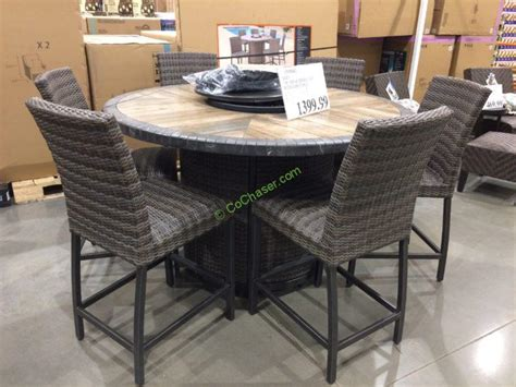 7pc portland oval kitchen dining 7pc dining table set wood kitchen table sets 2017 grasscloth wallpaper agio 7pc high dining set