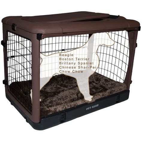 puppy crate pet gear the other door steel crate with pad petco