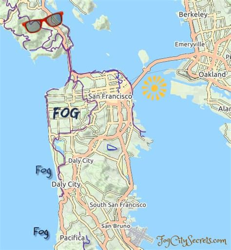 san francisco fog map san francisco weather why is it so cold