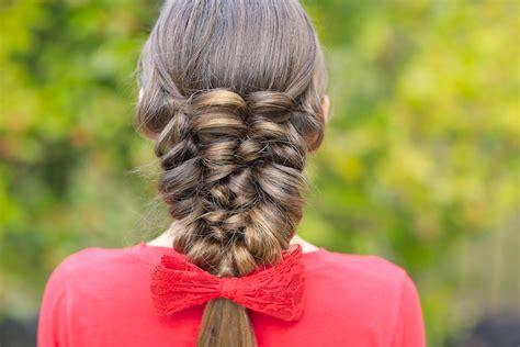 banded puff braid