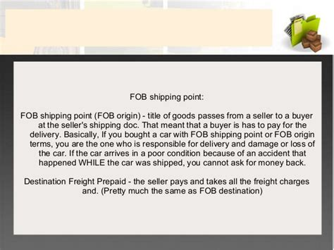 what is freight in freight out and fob