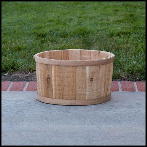 eco chic cedar tub outdoor planters hooks lattice