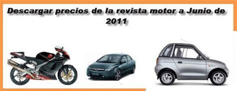 revista motor actualizadas revista motor junio 2011 precios revista motor junio