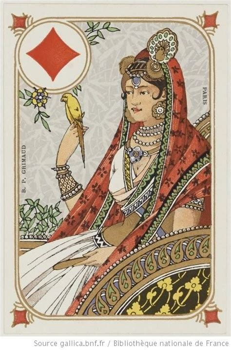 grimaud cing wonderful indian themed nouveau cards by