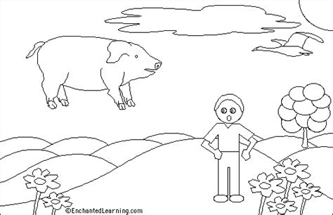flying pig coloring page flying pig printout enchantedlearning com