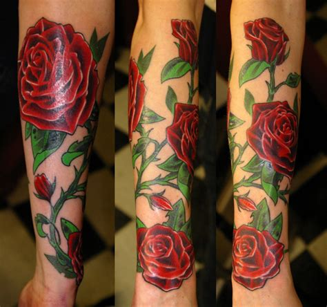 rose tattoo with leaves meaning of black blue purple and other