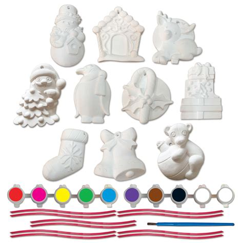 10 plaster christmas ornaments design 1