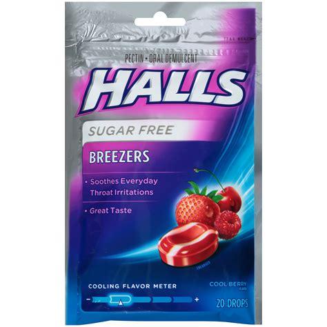 couch drops halls breezers throat drops pectin sugar free cool