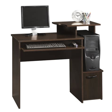sauder beginnings computer desk cinnamon cherry finish beginnings computer desk 408726 sauder