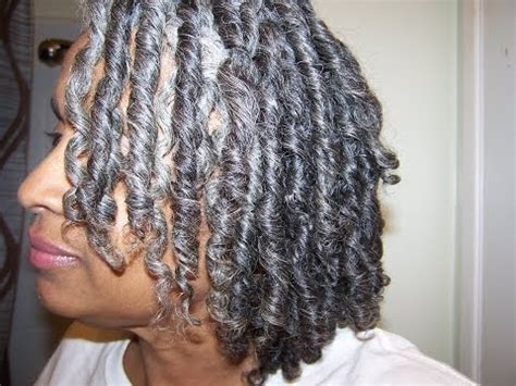 coil out inspired by mahoganycurls..natural/gray hair
