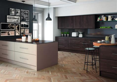 Kitchen Cabinets And Hardware pisa kitchen in burnt oak and matt cashmere