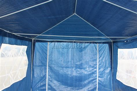marquee awning waterproof blue 3m x 6m outdoor garden gazebo party tent