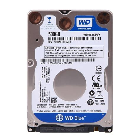 Disk Wdc 500gb Sata3 16mb western digital hdd int notebook blue sa end 11 13 2016 1