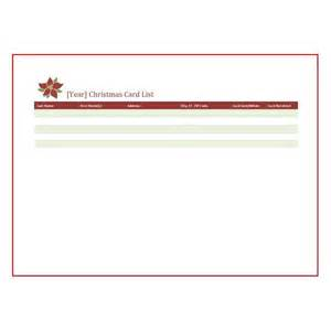 Christmas Card List Template Christmas Card List Template Here S Plenty Of Sources For