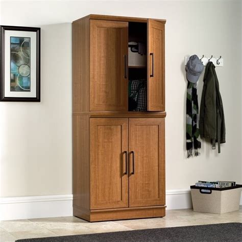 oak finish storage cabinet sauder homeplus base oak finish storage cabinet