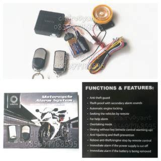 Alarm Motor Merk Sinagawa baru alarm motor remote starter bht agiva sinagawa vinyx dll 125rb