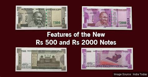 new rs 500 rs 2000 rupee notes look features of the new rs 500 and rs 2000 currency notes my