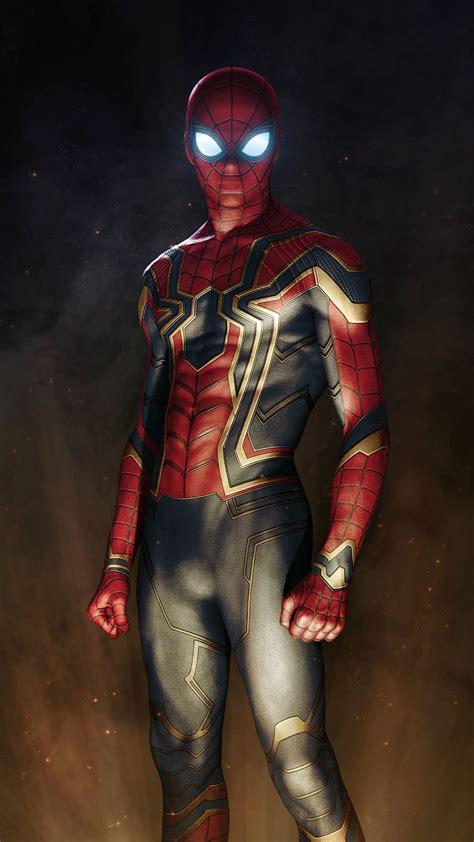 iron spiderman suit avengers iphone wallpaper iphone