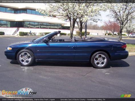 2000 Chrysler Sebring Jxi Convertible by 2000 Chrysler Sebring Jxi Convertible Patriot Blue Pearl