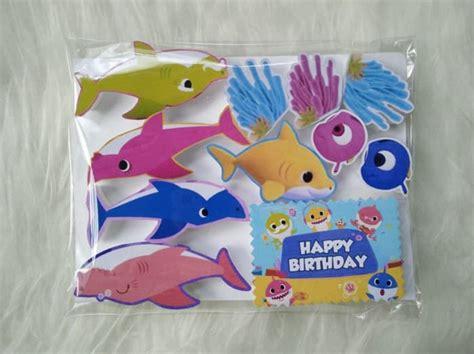 Topper Cake Ultah by Jual Topper Baby Shark 001 Hiasan Cake Cupcakes Puding