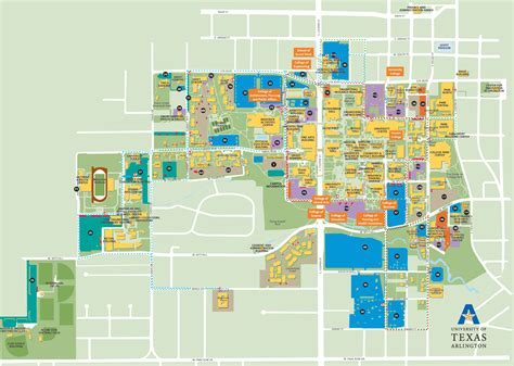 university of texas at arlington map uta map map2