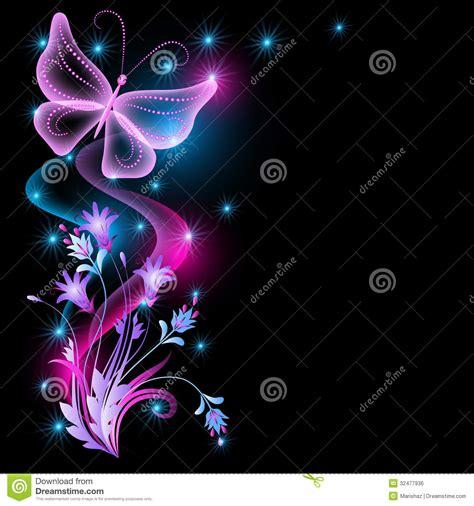 imagenes mariposas y libelulas movimiento 花和透明蝴蝶 免版税库存图片 图片 32477936